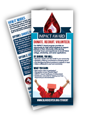 image of the IMPACT Award rack card available to download pdf