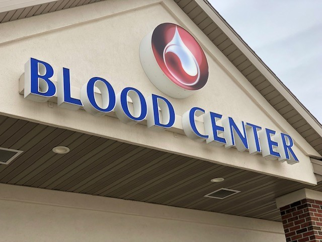 Building with Blood Center on it
